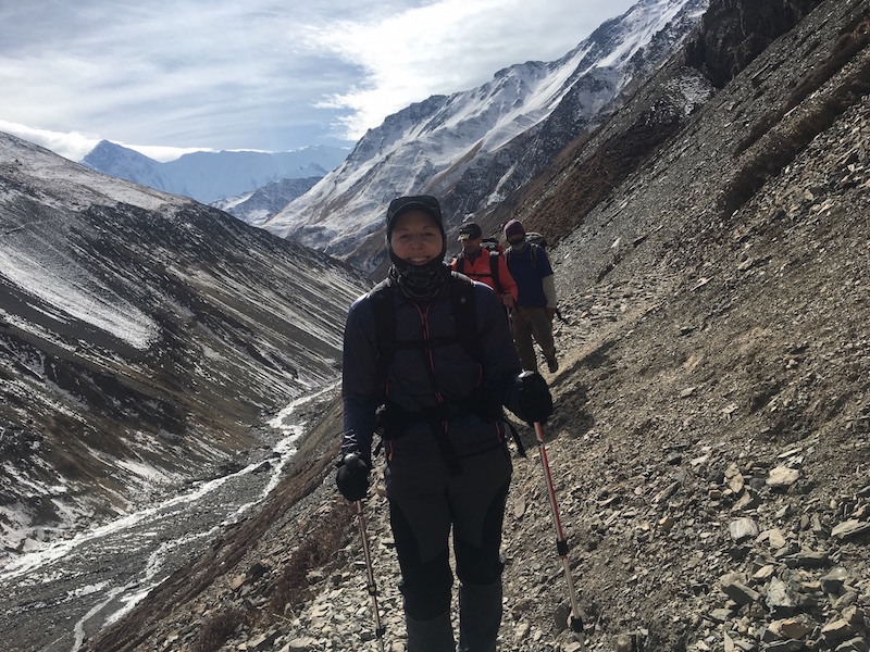 Hiking On the way - Annapurna Circuit Trekking