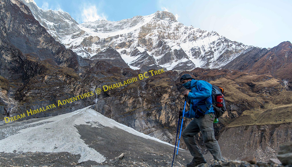 Peter Wells while Dhaulagiri region Trek