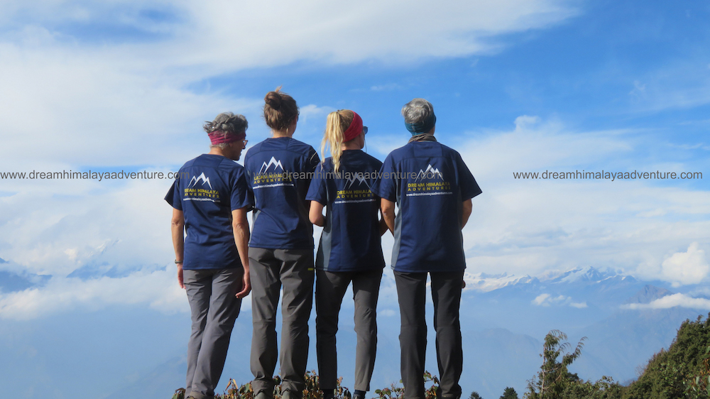 Tourist enjoying the view in Langtang Gosaikunda Trekking