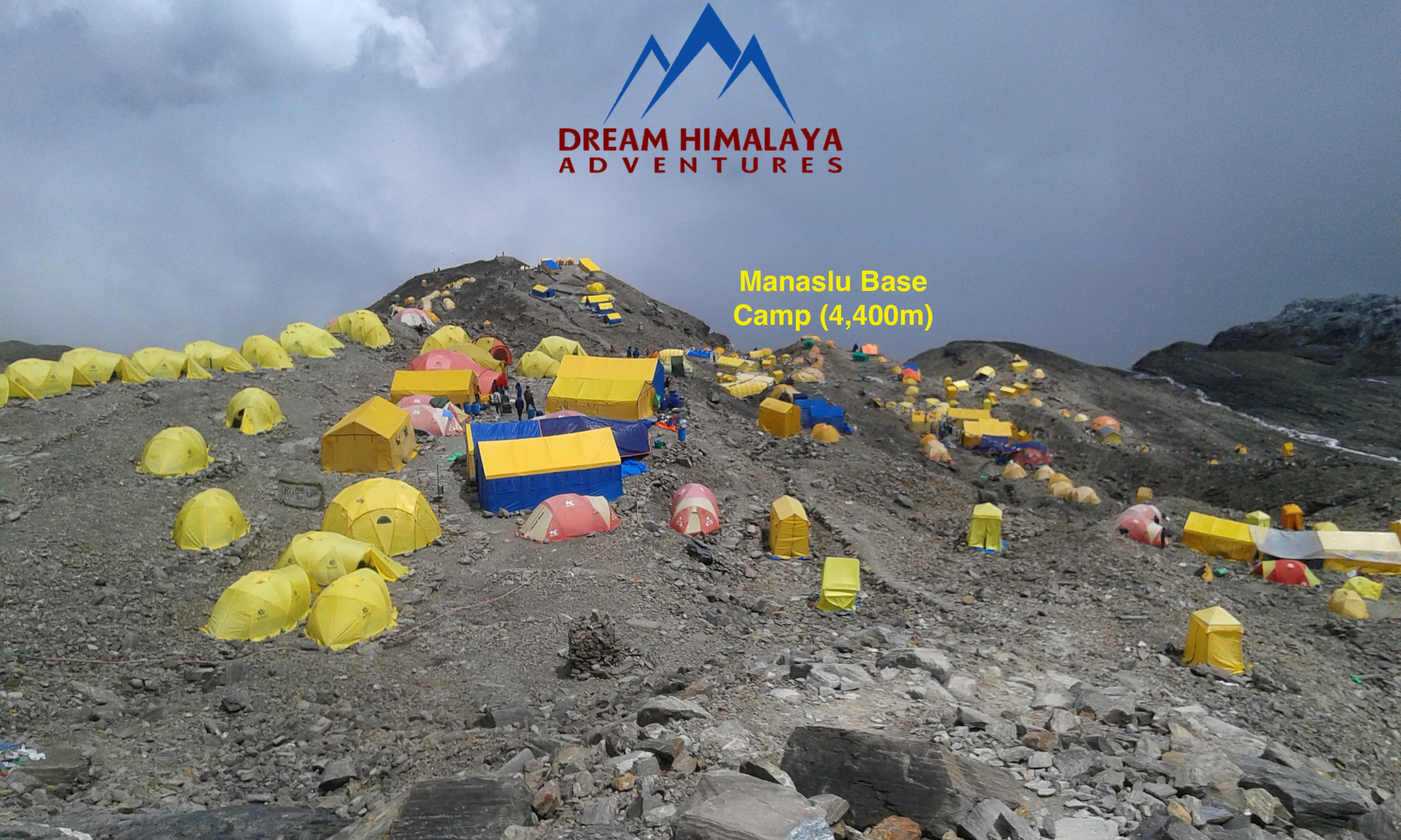 Mt Manaslu base camp (4400m)