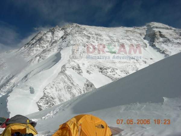 view from North Col Mt Everest