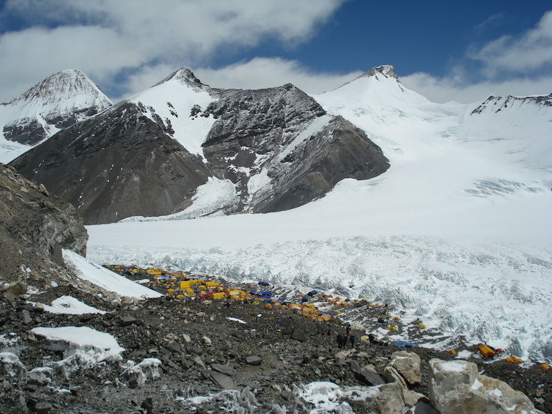 Advance base camp on North Everest