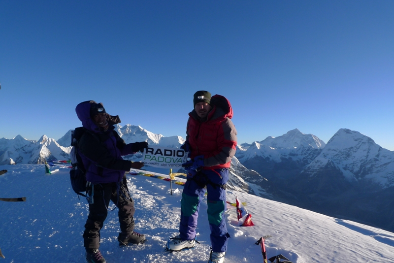 Summit of Mera Peak (6476m)