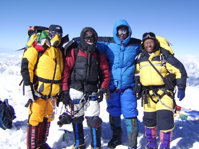 Dream Himalaya team on the summit of Mt Cho Oyu