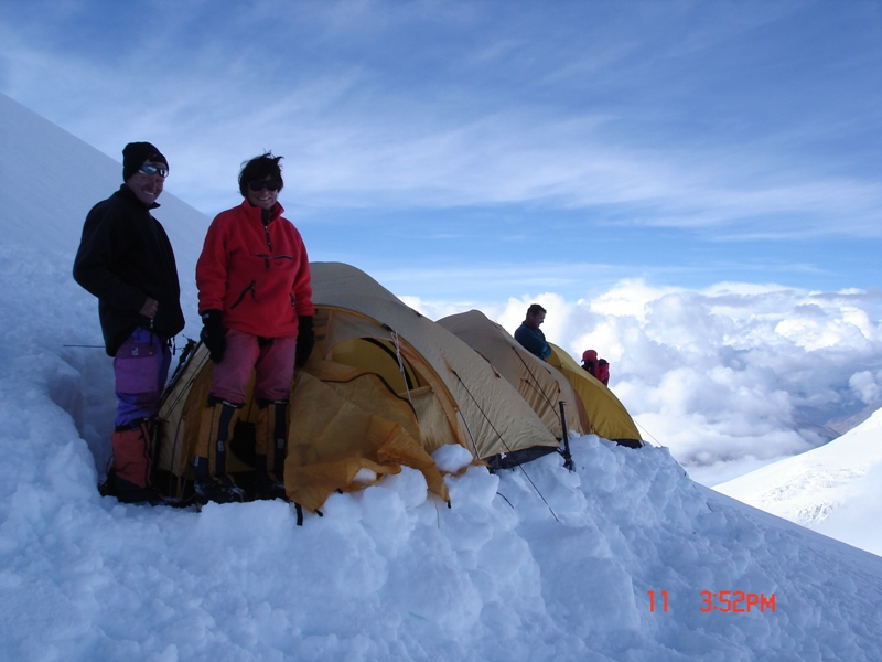 Camp II on Mt Dhaulagiri
