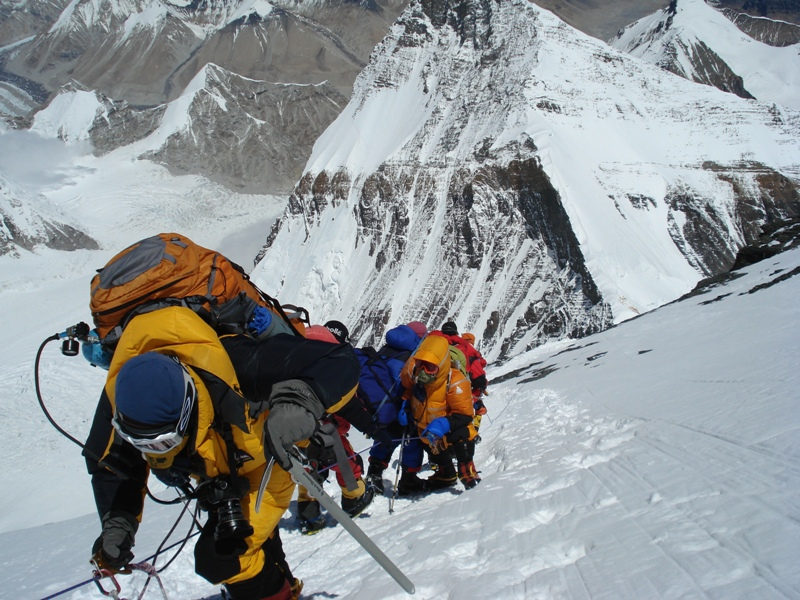 Climbing on north everest