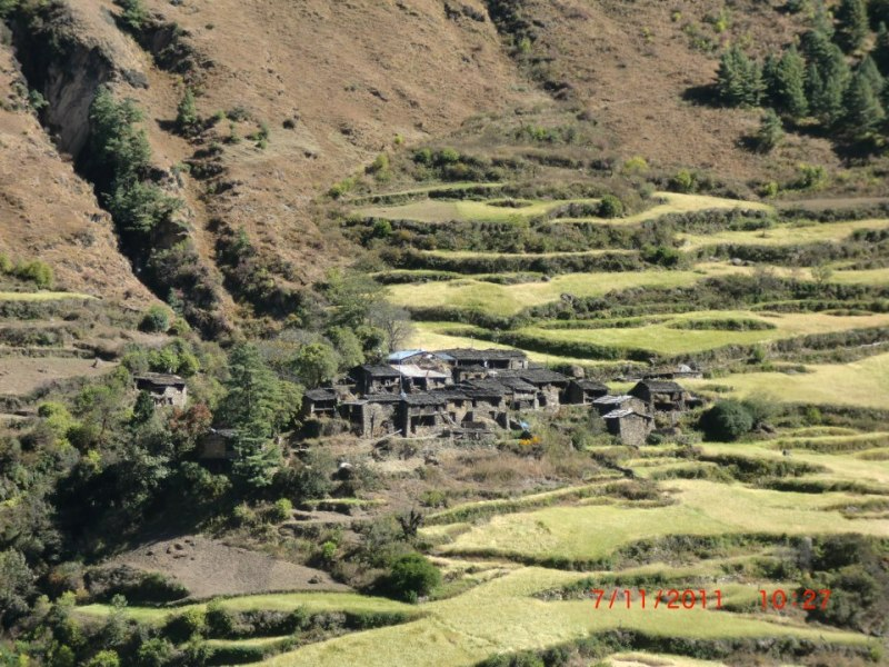 Village and farm - Manaslu Circuit Trekking