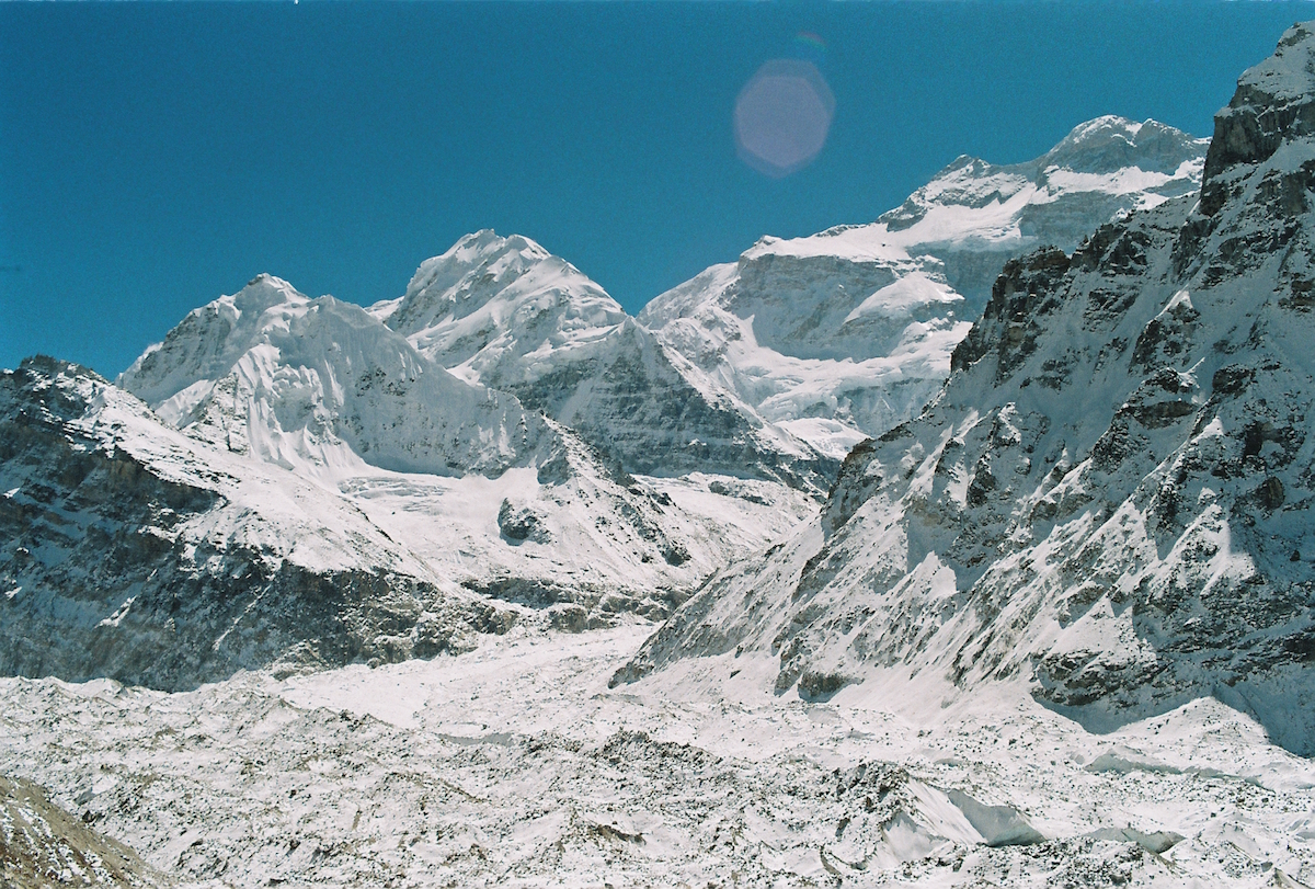 Mt. Kanchenjunga and its sister peaks