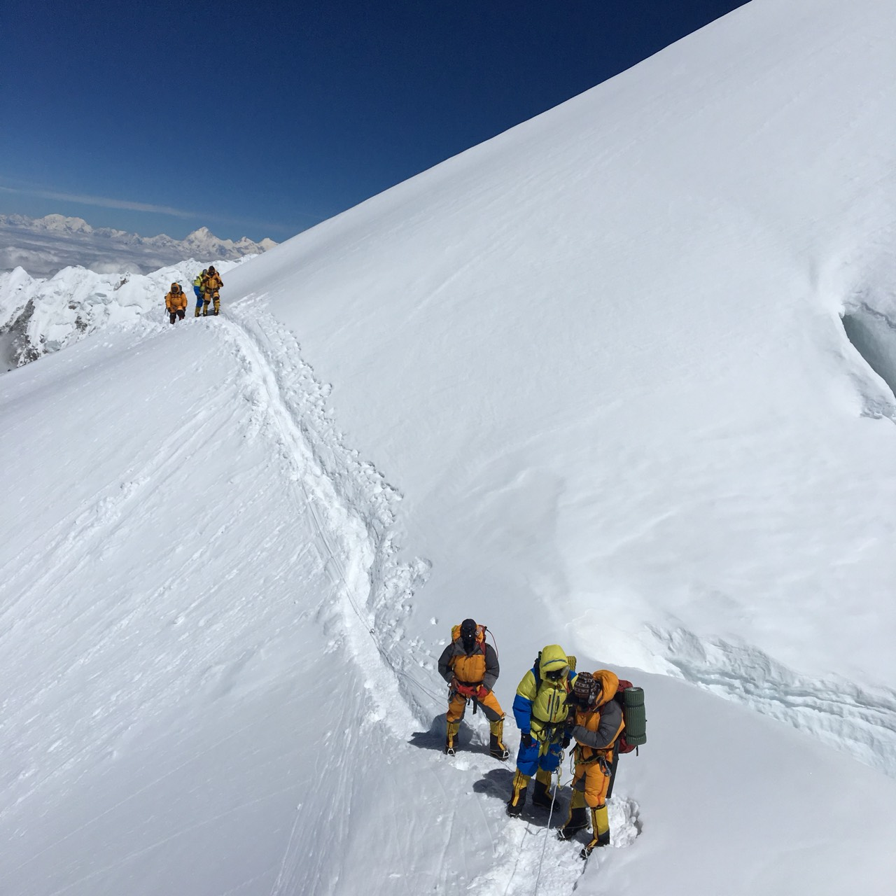 Climbing on Mt. Kanchenjunga Expedition
