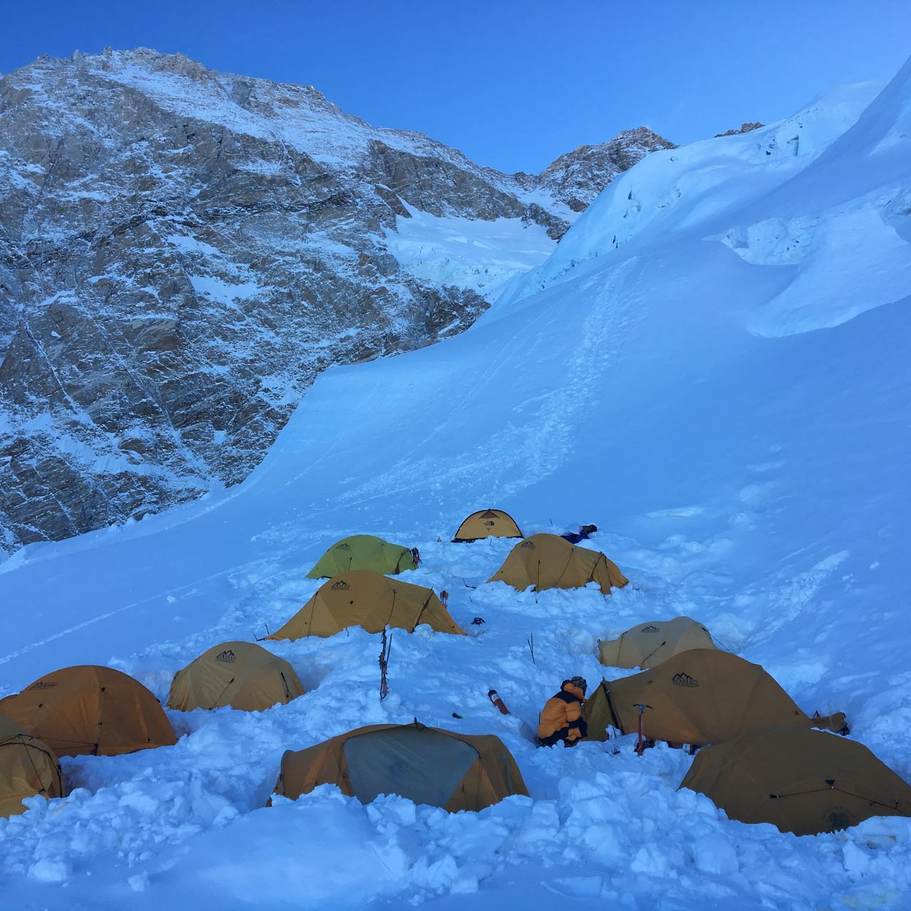 Camp II on Mt. Kanchenjunga Expedition