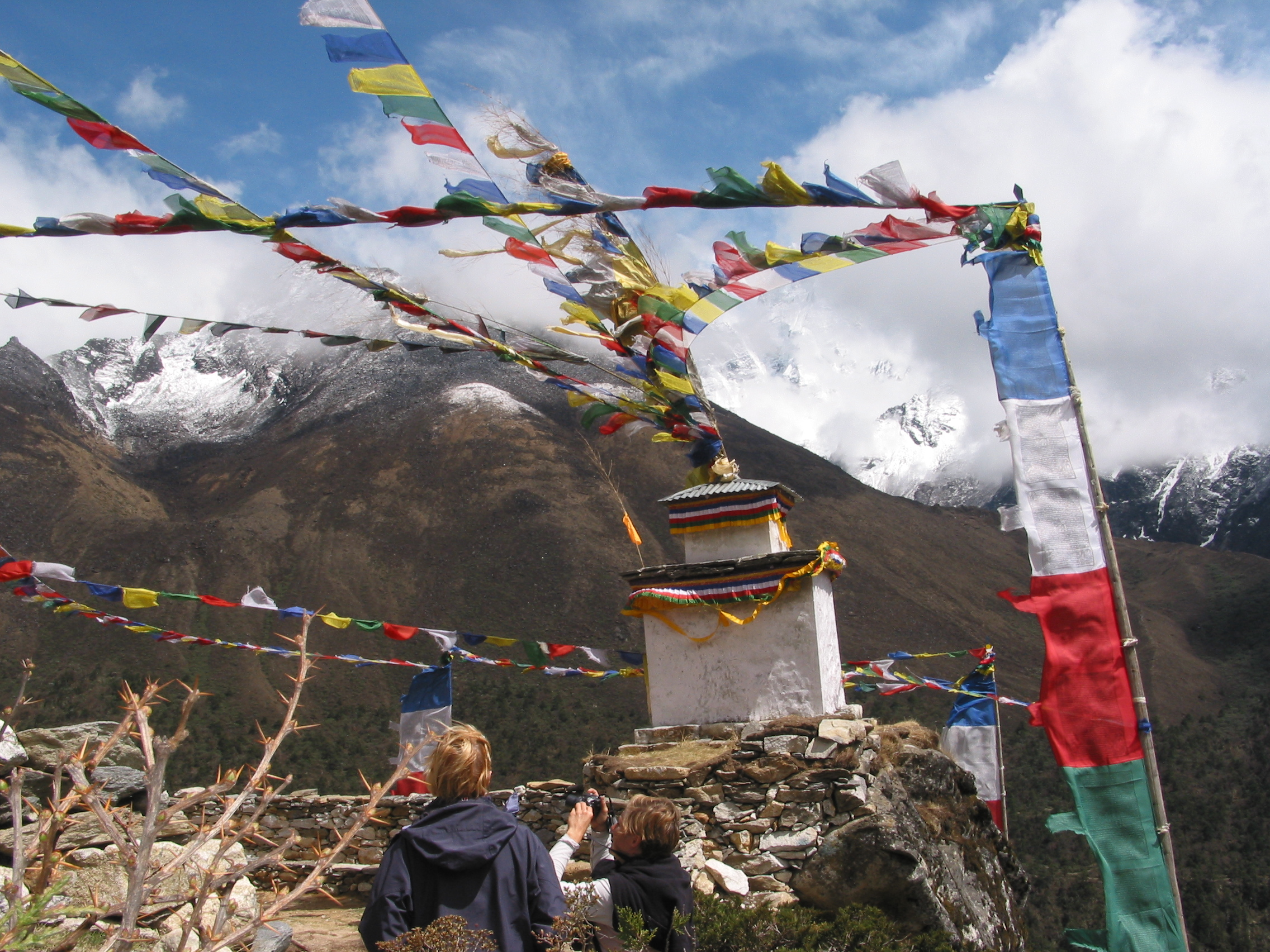 Buddhist stupa in Everest region