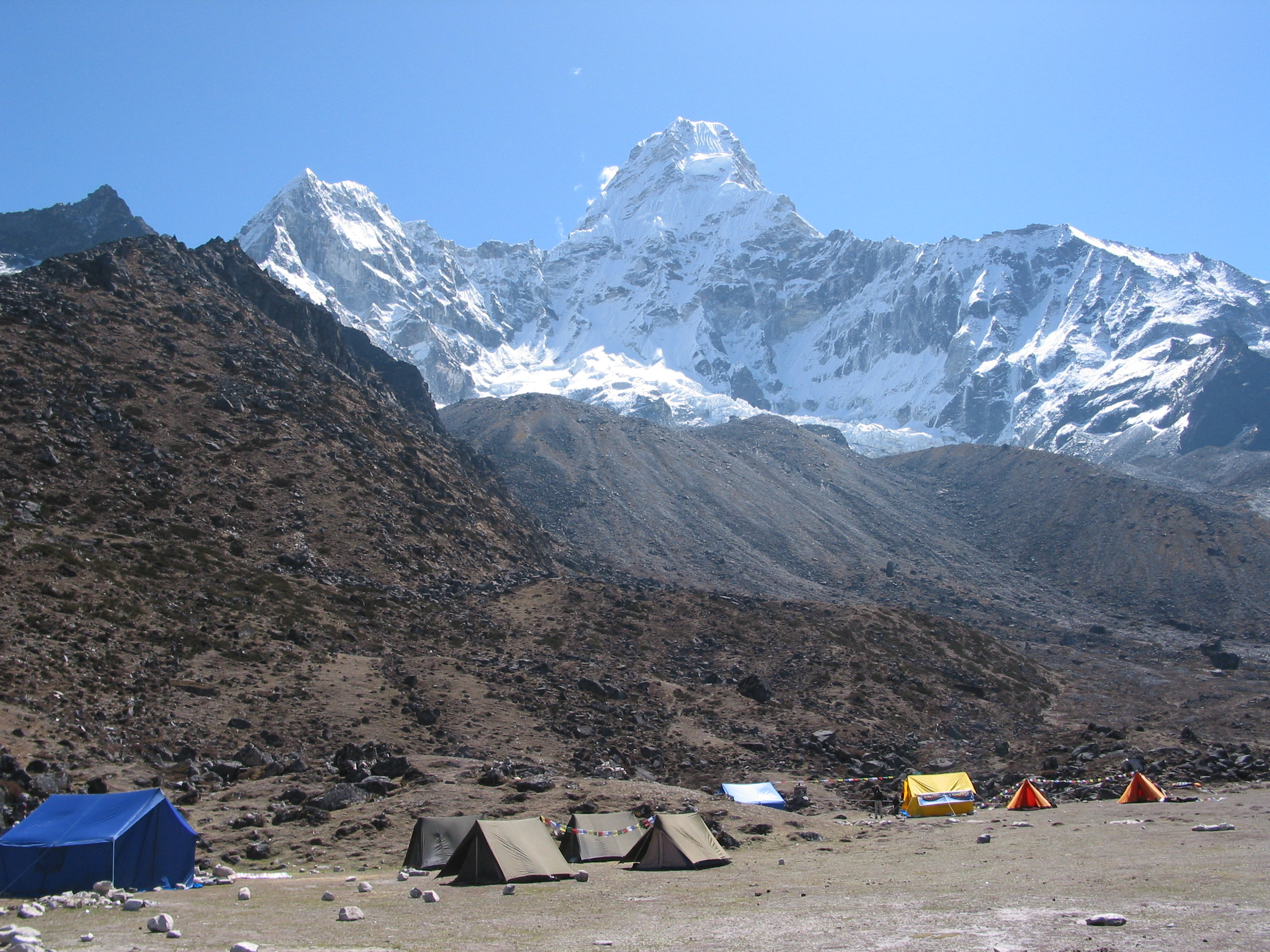 Mt. Amadablam and its Base Camp