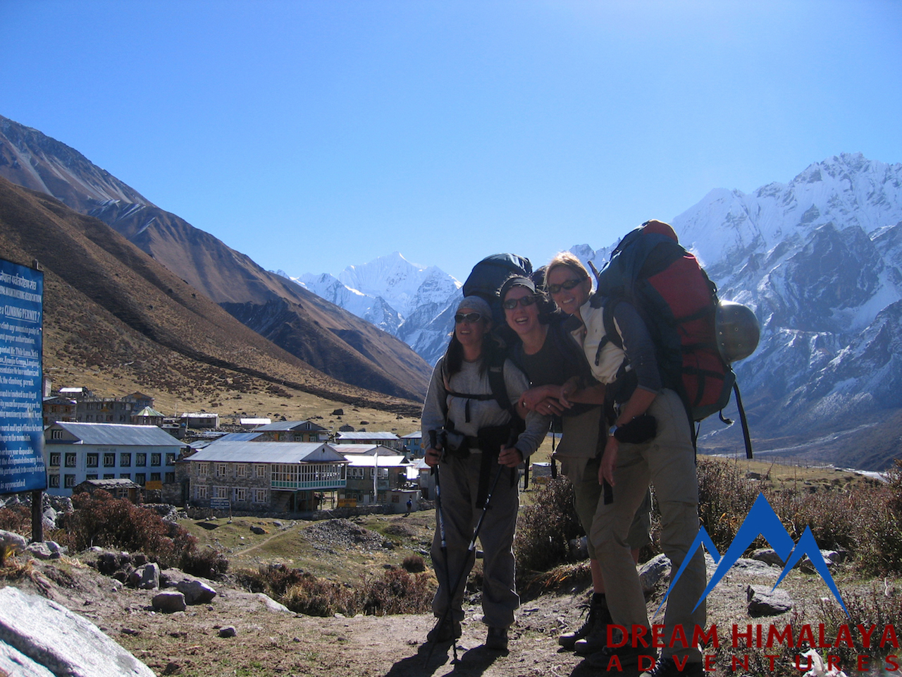 Kyajin Gomba on back ground Langtang trekking