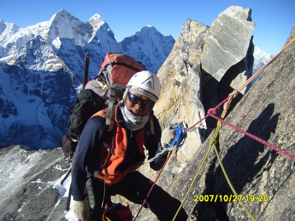 Rocky section just below Camp II on Mt. Amadablam Expedition