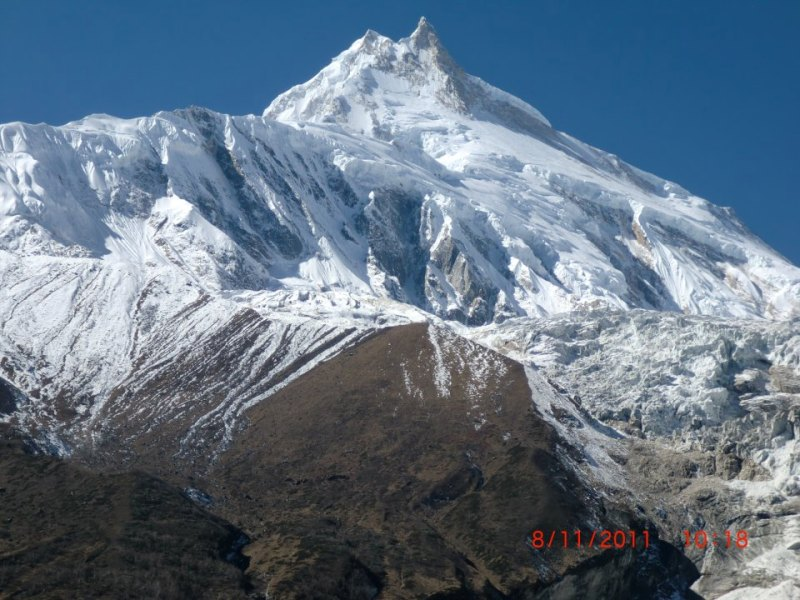 Mt. Manaslu view Manaslu Circuit Trek
