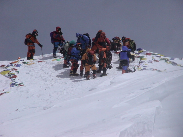 On the Summit of Mt Everest