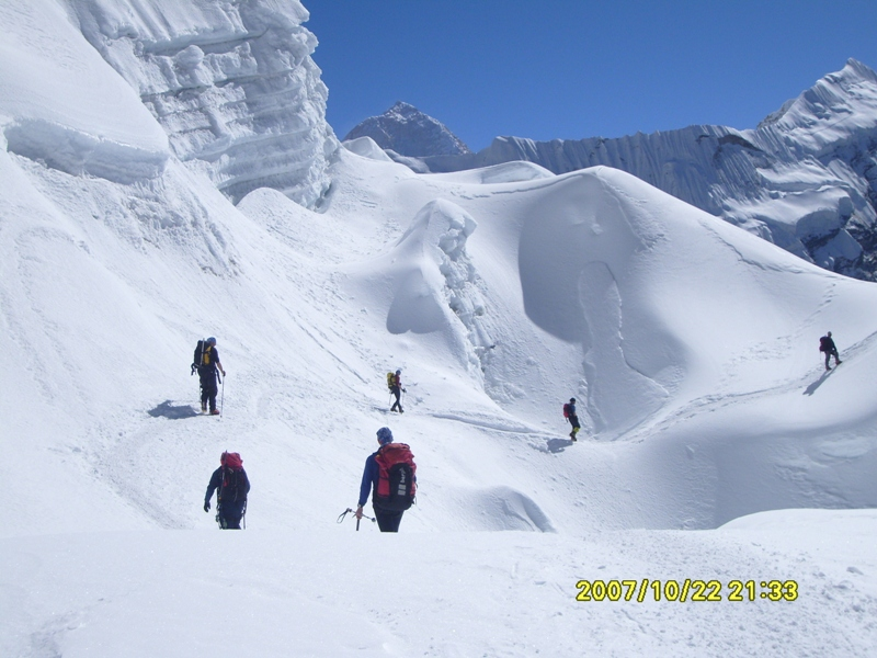 Climbing on Island Peak Everest region