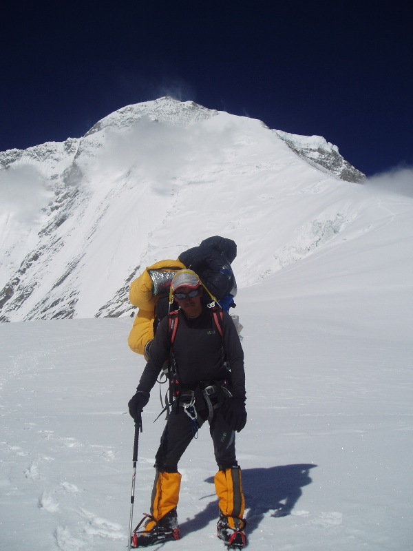 Sherpa carrying loads to the higher camps on Mt Dhaulagiri