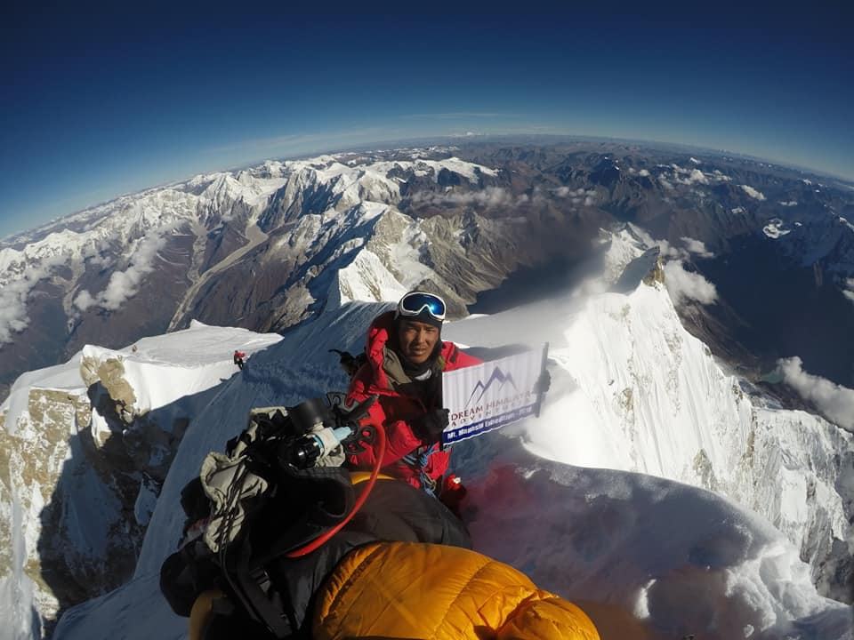 Tendi on Manaslu Summit