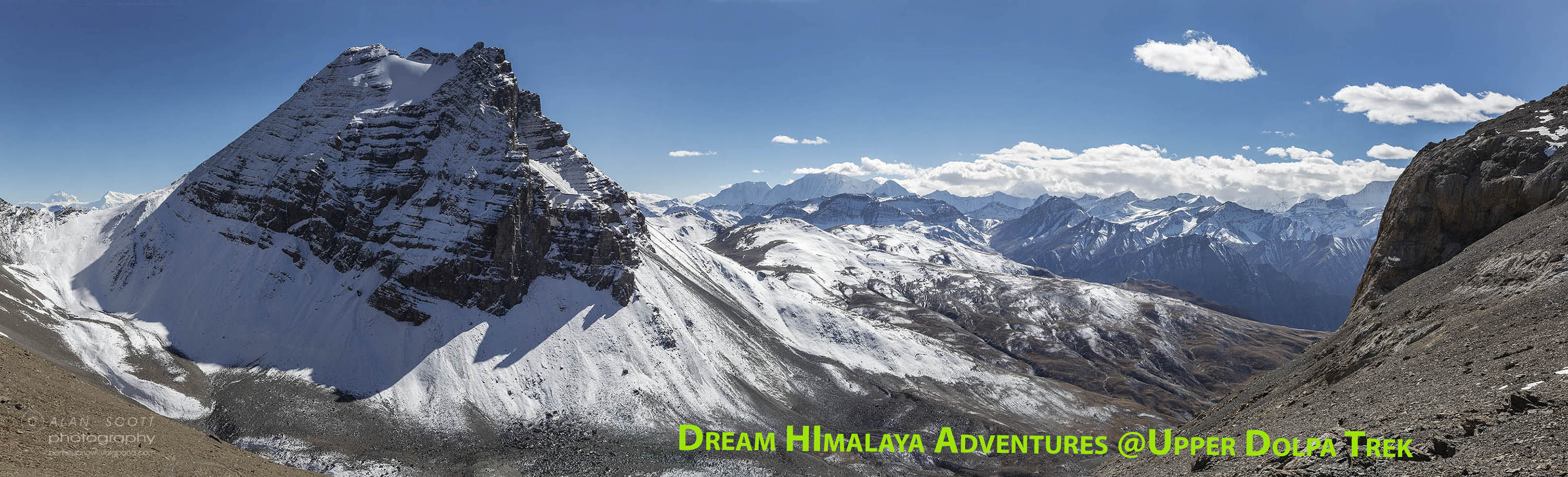 Peaks views Upper Dolpa Trek