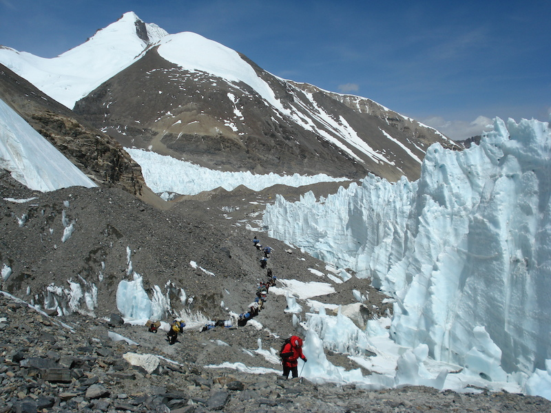 walking to Advance base camp North Mt Everest