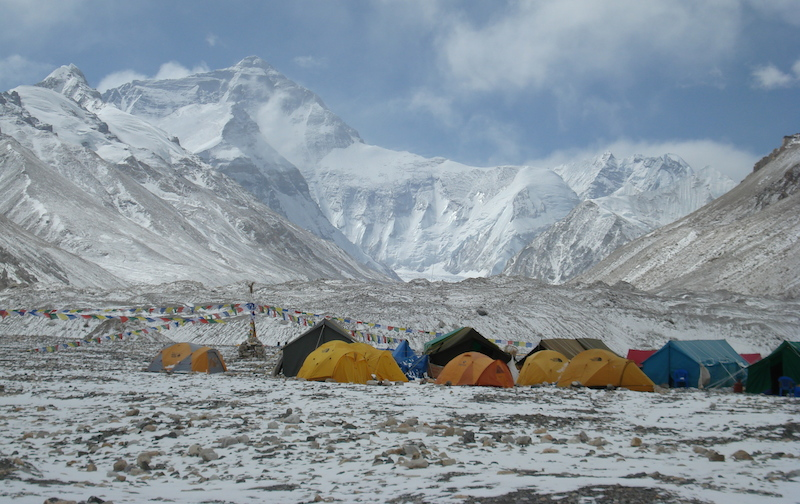 base camp north everest