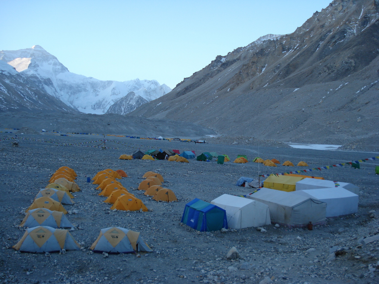 Base camp of Everest north